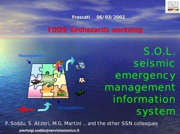 Fields data - IGOS Geohazards