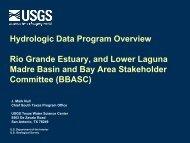 Hydrologic Data Program Overview Rio Grande Estuary, and Lower ...
