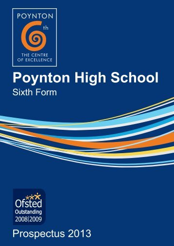 Sixth Form Prospectus - September 2013 entry - Poynton High School