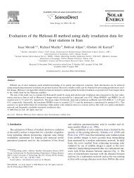 Evaluation of the Heliosat-II method using daily irradiation data for ...