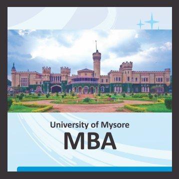 Mysore Univresity MBA - Gems B-School