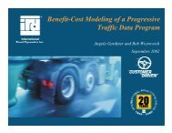 Benefit-Cost Modeling of a Progressive Traffic Data Program