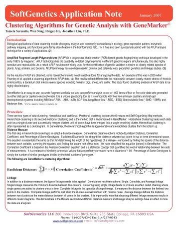 SoftGenetics Application Note