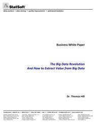 The Big Data Revolution And How to Extract Value from ... - StatSoft