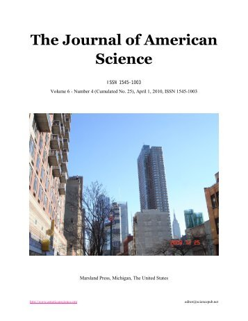 N - The Journal of American Science