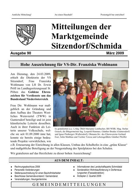 Partnerschaften & Kontakte in Sitzendorf an der Schmida