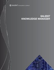 KNOWLEDGE MANAGER - Salient
