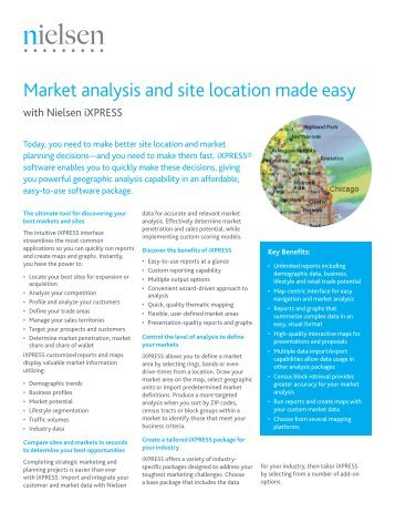 Market analysis and site location made easy - Nielsen