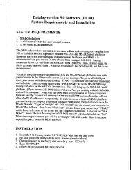 Datalog version 5.0 Software (DL50) System ... - MPS Racing