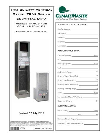 submittal set climatemaster?quality=85 vertical high rise stack ClimateMaster Model Numbers at bakdesigns.co