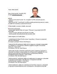 Nume: Radu Zamfir Data si locul nasterii: 16 aprilie 1974 E-mail ...