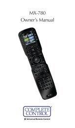 Total Control TV URC-2910 universal remote manual