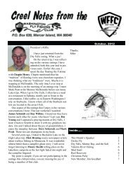 Creel Notes - Washington Fly Fishing Club
