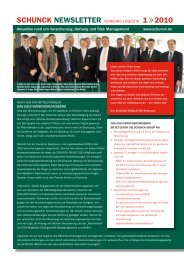 SCHUNCK NEWSLETTER 1 / 2010 VL - SCHUNCK GROUP