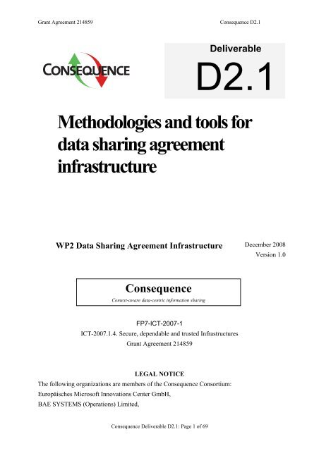 Methodologies And Tools For Data Sharing Agreement Consequence