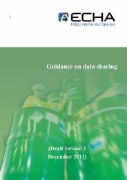 Guidance on data sharing - ECHA - Europa