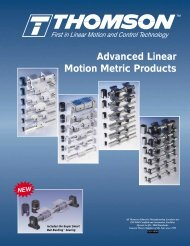 Advanced Linear Motion Metric Products - Action Bearing Distributors
