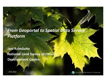 From Geoportal to Spatial Data Service Platform - inspire