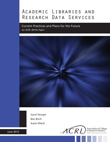 Academic Libraries and Research Data Services - American Library ...