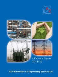 Annual Report 2011-12 - A2Z Maintenance & Engineering