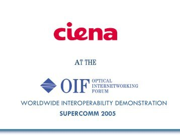 Network - Optical Internetworking Forum
