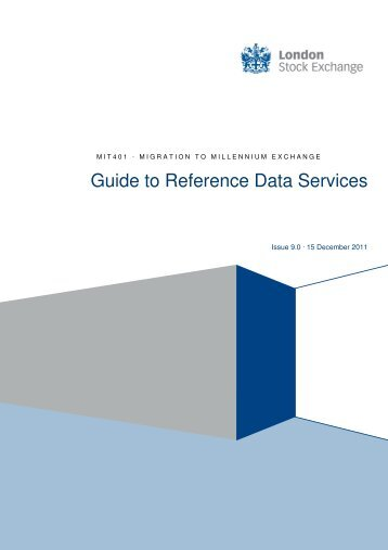 Guide to Reference Data Services - London Stock Exchange