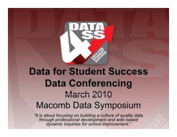 Data for Student Success - Calhoun - Macomb Intermediate School ...