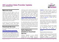UK Location Data Provider Update