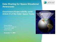 Data Sharing for Space Situational Awareness: - International ...