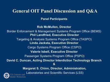 Presentation title slide - 42 pt Times New Roman, White - CBP.gov