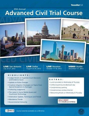 Advanced Civil Trial Course - TexasBarCLE