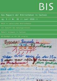 Umstellung der verbleibenden - Das Magazin der Bibliotheken in ...