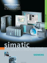 SIMATIC Controller - The innovative solution for all automation tasks