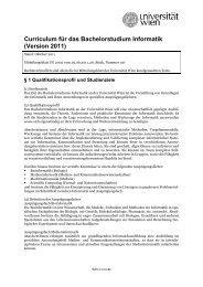 Curriculum für das Bachelorstudium Informatik - Senat - Universität ...