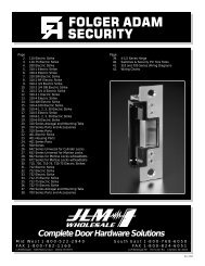 Complete Door Hardware Solutions - JLM Wholesale