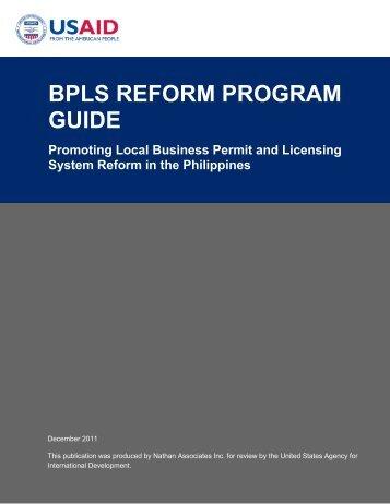 BPLS Reform Program Guide - National Computer Center