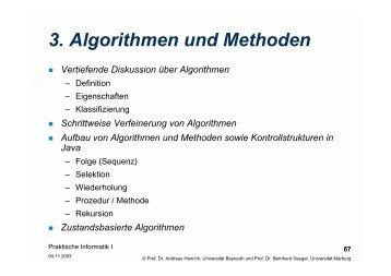 Kapitel 3 - Algorithmen und Methoden