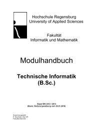 Technische Informatik (B.Sc.) - Hochschule Regensburg