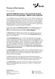 Presse-Information - BBBank eG