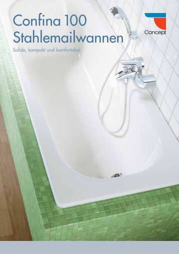 Concept Confina 100 Stahlemailwannen
