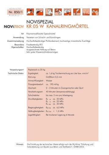 NOVISPEZIAL KR 05 W - Schretter & CIE