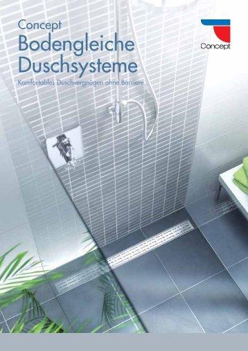 Bodengleiche Duschsysteme
