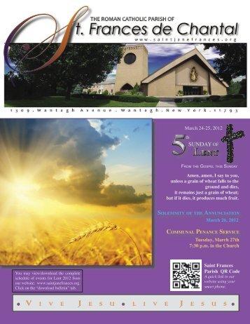 March 25, 2012 - Saint Jane Frances de Chantal Church, Wantagh ...