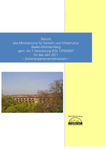 Bericht des Ministeriums für Verkehr und ... - 3-Löwen-Takt
