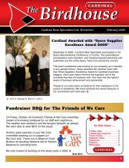 Fundraiser BBQ for The Friends of We Care - Cardinal Meat ...