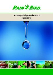 spray heads and accessories - Rain Bird irrigation