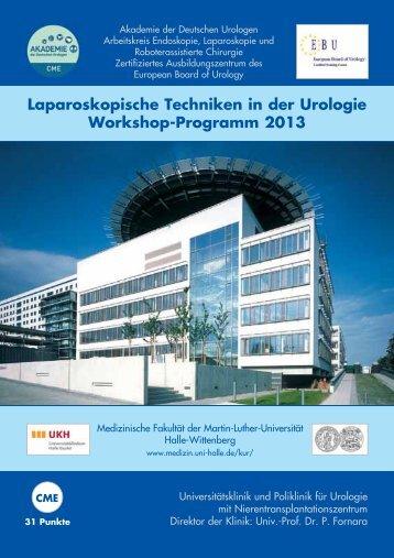 Laparoskopische Techniken in der Urologie Workshop-Programm ...