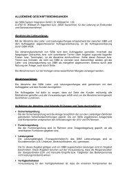 Allgemeine Geschäftsbedingungen - Siba