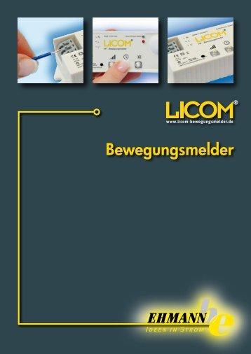 PDF Katalog LICOM Bewegungsmelder - Ehmann