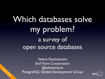 a survey of open source databases